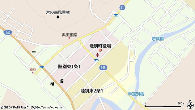 〒089-4300 北海道足寄郡陸別町(以下に掲載がない場合)の地図
