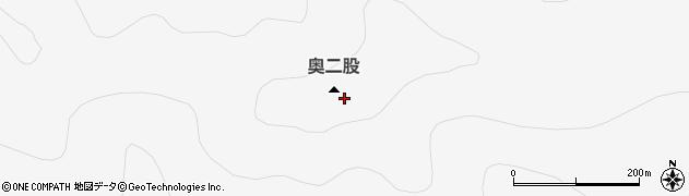 奥二股周辺の地図