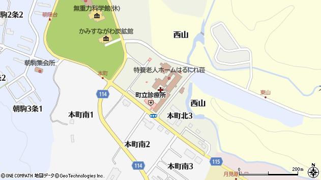 〒073-0204 北海道空知郡上砂川町本町の地図