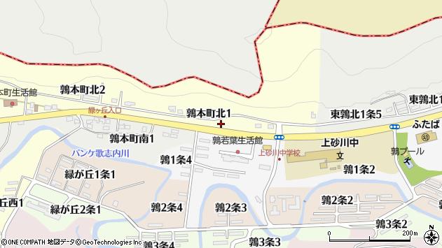 〒073-0221 北海道空知郡上砂川町鶉本町の地図
