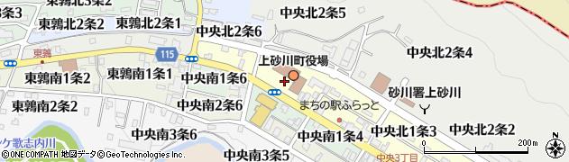 北海道空知郡上砂川町周辺の地図