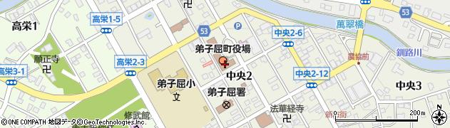 北海道川上郡弟子屈町周辺の地図