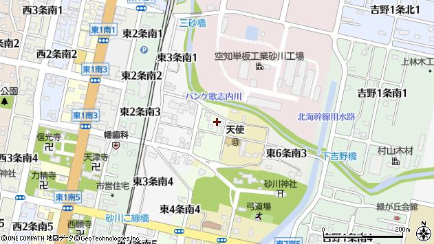 〒073-0134 北海道砂川市東四条南の地図