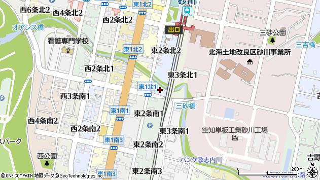 〒073-0152 北海道砂川市東二条北の地図