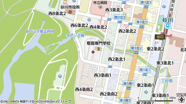 〒073-0164 北海道砂川市西四条北の地図