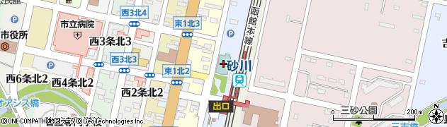 砂川パークホテル周辺の地図