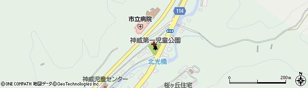 北海道歌志内市神威市街周辺の地図