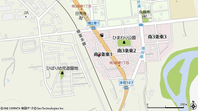 〒075-0033 北海道芦別市南三条東の地図