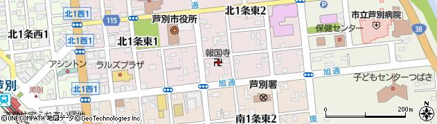 報国寺周辺の地図