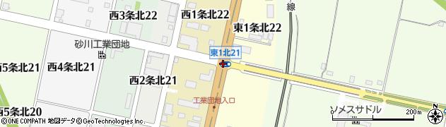 東1北21周辺の地図