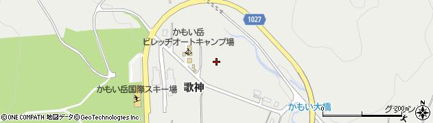 北海道歌志内市歌神三区周辺の地図