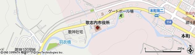 北海道歌志内市周辺の地図