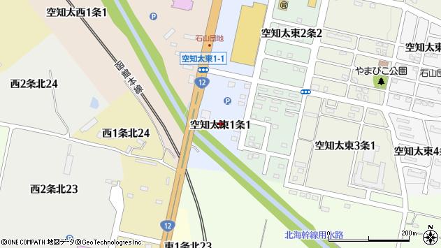 〒073-0101 北海道砂川市空知太東一条の地図