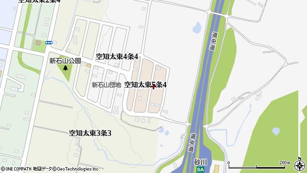 〒073-0105 北海道砂川市空知太東五条の地図