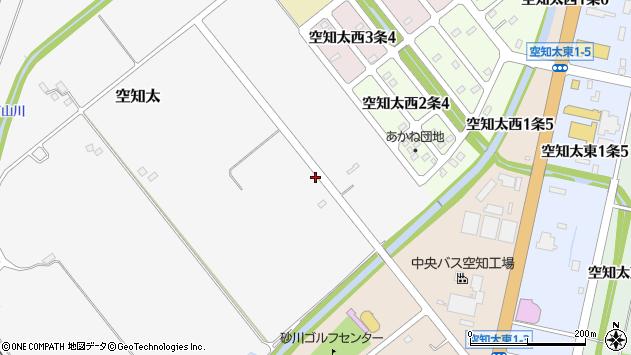 〒073-0177 北海道砂川市空知太(1〜349番地)の地図
