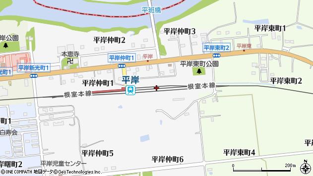 〒079-1282 北海道赤平市平岸仲町の地図