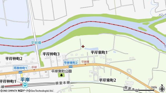 〒079-1283 北海道赤平市平岸東町の地図