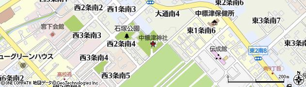 中標津神社周辺の地図