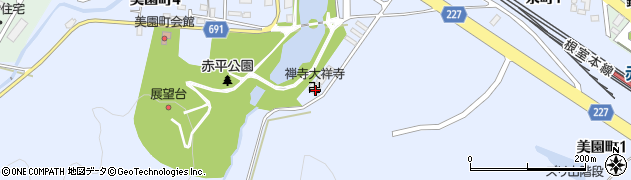 大祥寺周辺の地図