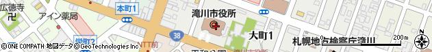北海道滝川市周辺の地図