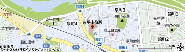北海道赤平市周辺の地図