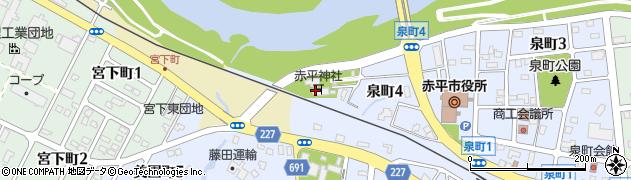 赤平神社周辺の地図