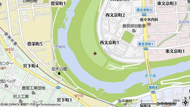 〒079-1122 北海道赤平市西文京町の地図