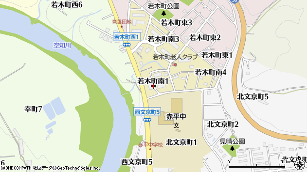 〒079-1114 北海道赤平市若木町南の地図