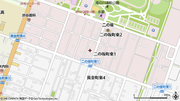 〒073-0005 北海道滝川市二の坂町東の地図