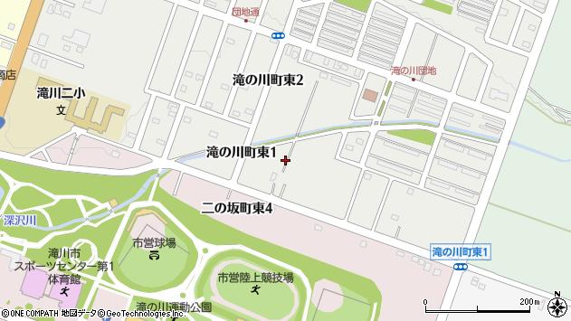 〒073-0004 北海道滝川市滝の川町東の地図
