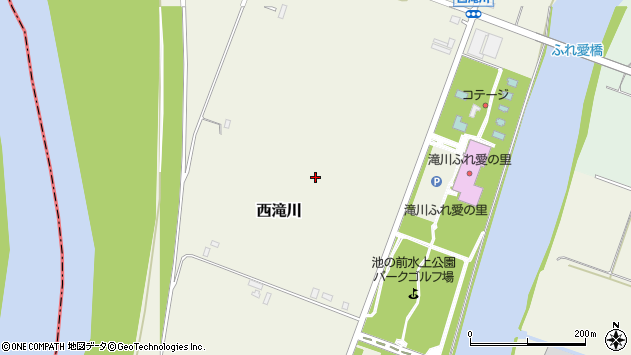 〒073-0041 北海道滝川市西滝川の地図