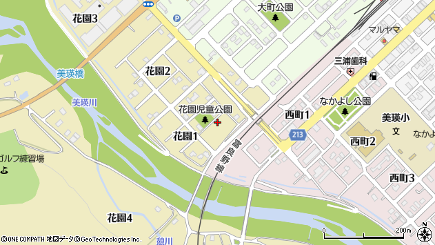 〒071-0248 北海道上川郡美瑛町花園の地図