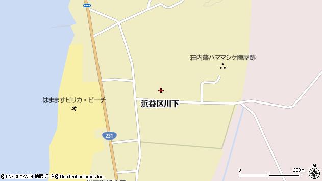 〒061-3106 北海道石狩市浜益区川下の地図