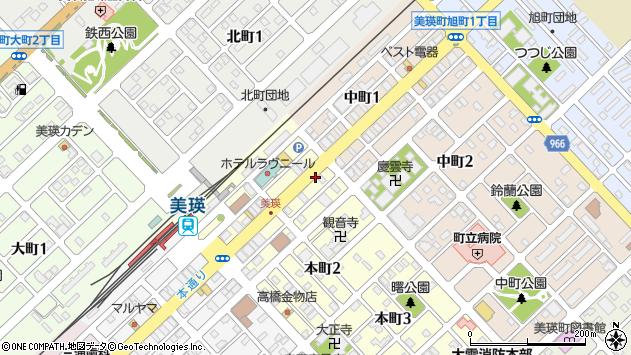 〒071-0208 北海道上川郡美瑛町本町の地図