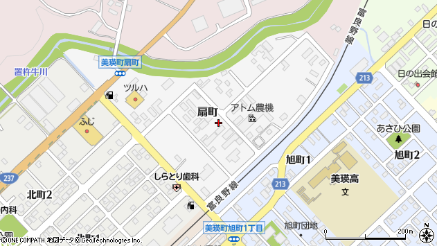 〒071-0215 北海道上川郡美瑛町扇町の地図