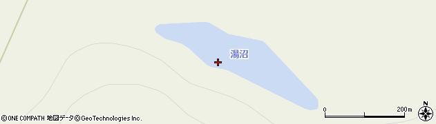 湯沼周辺の地図