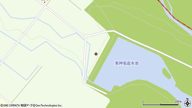 〒071-1555 北海道上川郡東神楽町25号の地図