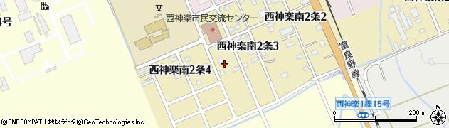 北海道旭川市西神楽南2条周辺の地図