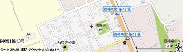 北海道旭川市西神楽北1条周辺の地図