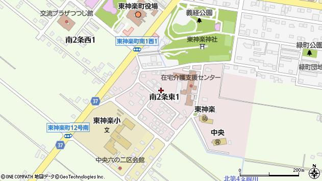〒071-1504 北海道上川郡東神楽町南二条東の地図