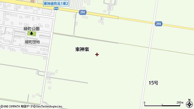 〒071-1544 北海道上川郡東神楽町14号の地図