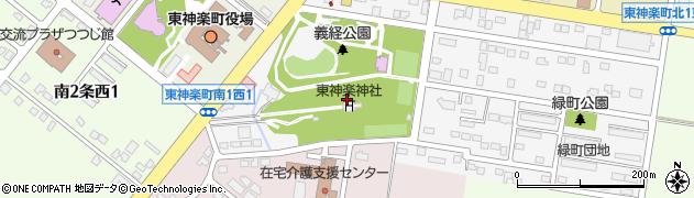 東神楽神社周辺の地図