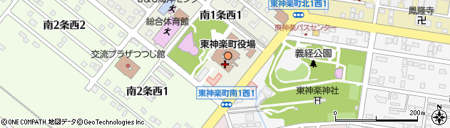 北海道上川郡東神楽町周辺の地図