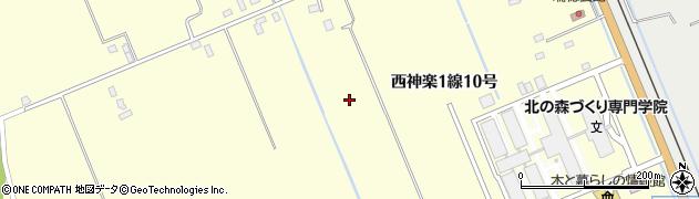 北海道旭川市西神楽1線(10号)周辺の地図