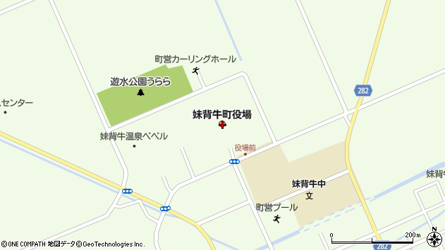 〒079-0500 北海道雨竜郡妹背牛町(以下に掲載がない場合)の地図