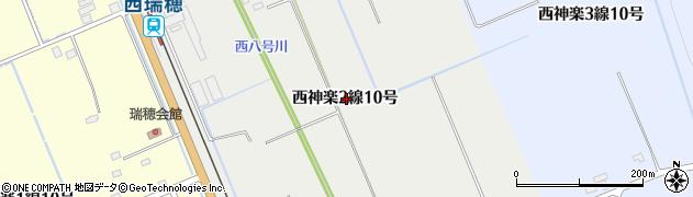 北海道旭川市西神楽2線(10号)周辺の地図