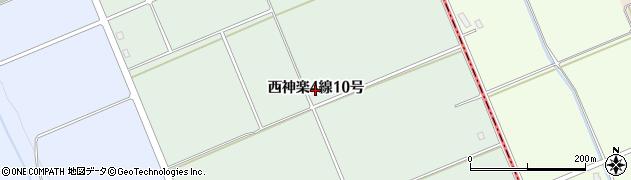 北海道旭川市西神楽4線(10号)周辺の地図