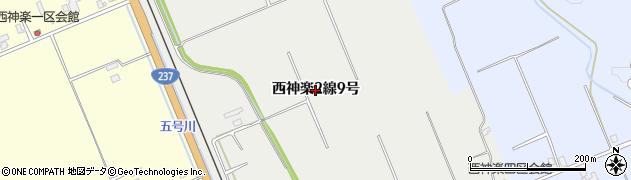 北海道旭川市西神楽2線(9号)周辺の地図