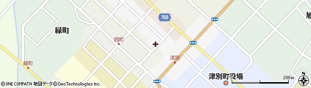 北海道網走郡津別町東2条周辺の地図