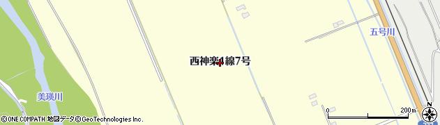 北海道旭川市西神楽1線(7号)周辺の地図